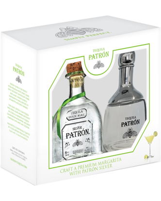 Picture of Patrón Silver Tequila & Shaker Gift Pack