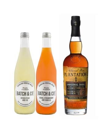Picture of Plantation Rum Original Dark 700ml & Batch & Co Spiced Pear Fig & Guava 500ml Cocktail Bundle