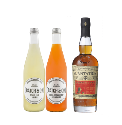 Picture of Plantation Rum Plantation Pineapple Rum 700mL & Batch & Co Spiced Pear Fig & Guava 500ml Cocktail Bundle