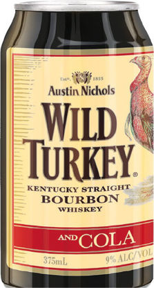 Picture of NEW Wild Turkey Heritage Edition Bourbon & Cola 9% Premix Cans 375mL 4 Pack