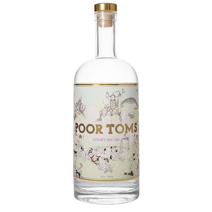 Picture of Poor Toms Strawberry Gin 700mL