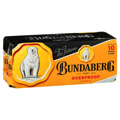 Picture of Bundaberg OP Rum & Cola 6% Premix Cans 375mL 10 Pack