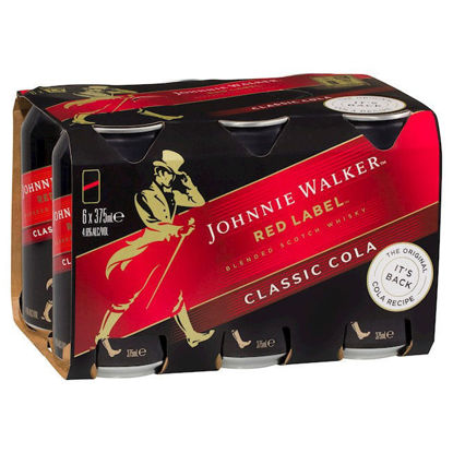 Picture of Johnnie Walker Red Label & Classic Cola 4.6% 6 x 375ml Can