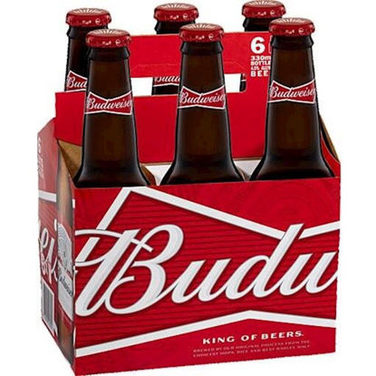Picture of Budweiser Stubbies 6 Pk