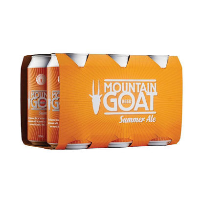 Picture of Mountain Goat Goat Summer Ale 375Ml Can 6 Pk