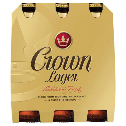 Picture of Crown Lager Stubbies  6 Pk