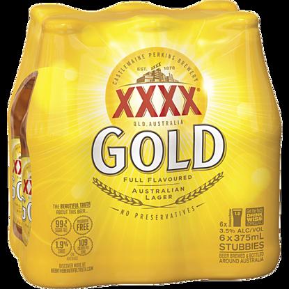 Picture of XXXX Gold Stubbies 6 Pk