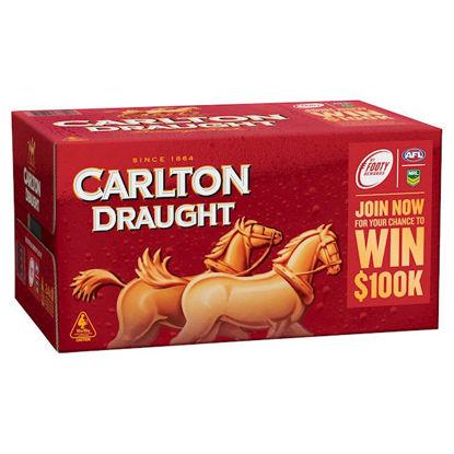 Picture of Carlton Draught Stubbies 24 x 375ml Carton