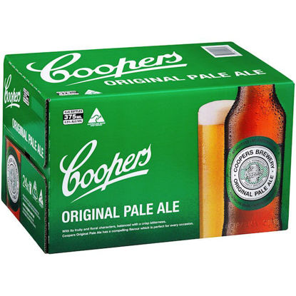 Picture of Coopers Pale Ale Stubbies 375ml 24 Pack Carton