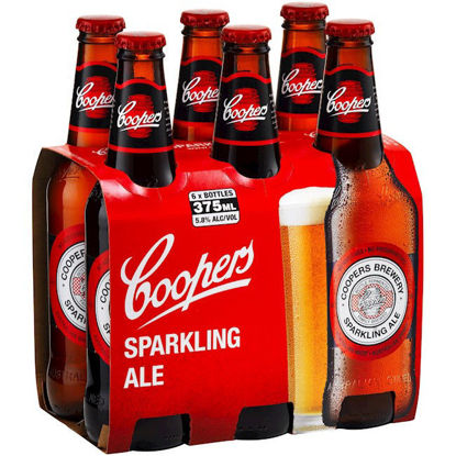 Picture of Coopers Sparkling Ale Stubbies 375ml 6 Pack