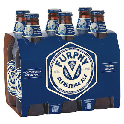 Picture of Furphy Refreshing Ale 375ml Bottle Wrap 6 Pack