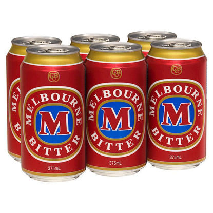 Picture of Melbourne Bitter 375ml Cans 6 Pack