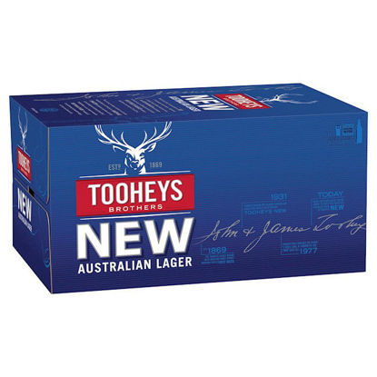 Picture of Tooheys New 375ml Stubbie 24 Pack Carton