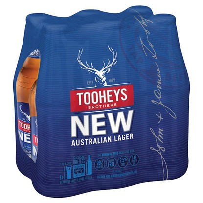 Picture of Tooheys New 375ml Stubbie Shrinkwrap 6 Pack
