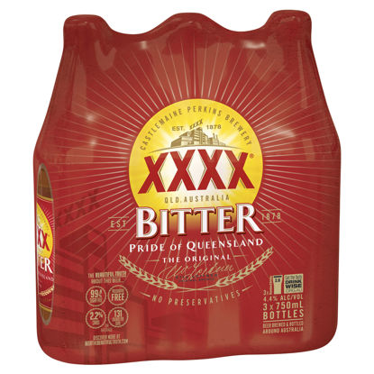 Picture of XXXX Bitter 750Ml 3 Pk