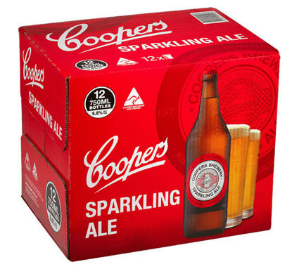 Picture of Coopers Sparkling Ale Long Neck 12Pk x 750ml Bottle