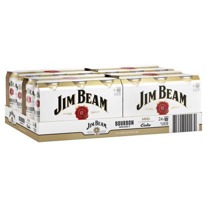 Picture of Jim Beam White Bourbon & Cola 24 x375ml Can-Carton