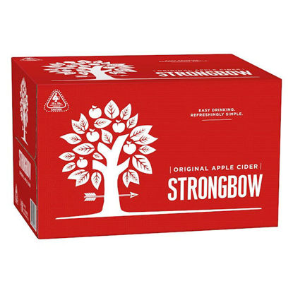 Picture of Strongbow Draught Apple Cider 330ml   x 24 Bottle-Carton