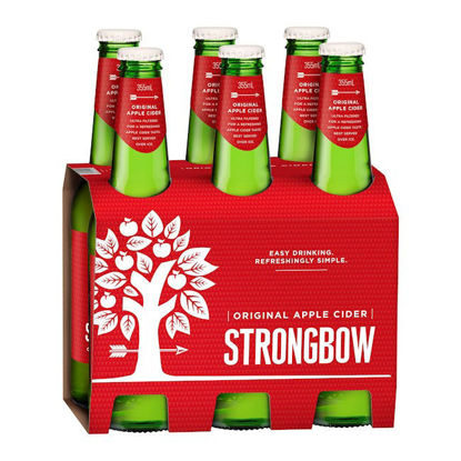 Picture of Strongbow Draught Apple Cider 330ml   x 6pk Bottle