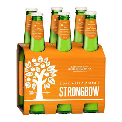 Picture of Strongbow Dry Apple Cider 330ml  x 6pk Bottle
