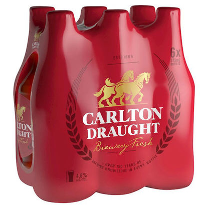 Picture of Carlton Draught Stubbies 375ml 6 Pack