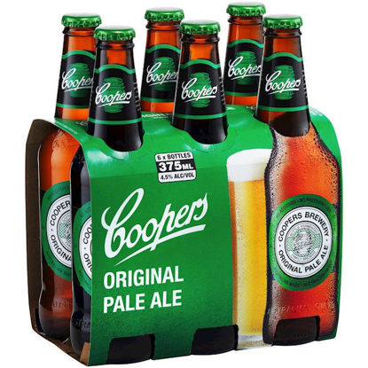 Picture of Coopers Pale Ale Stubbies 375ml 6 Pack