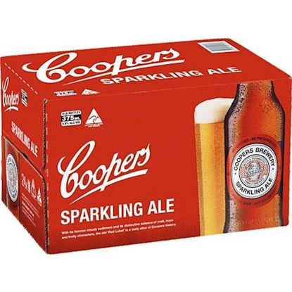Picture of Coopers Sparkling Ale Stubbies 375ml 24 Pack Carton