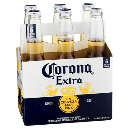 Picture of Corona Extra 355ml Stubbies 6 Pack