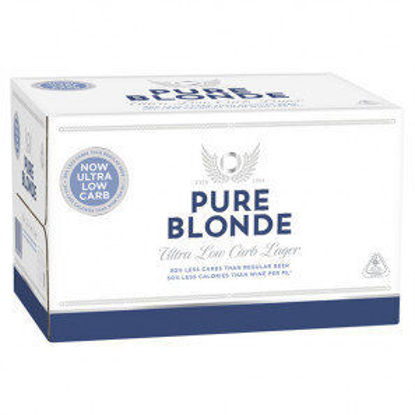 Picture of Pure Blonde Ultra Low Carb Lager 355ml 24 Pack