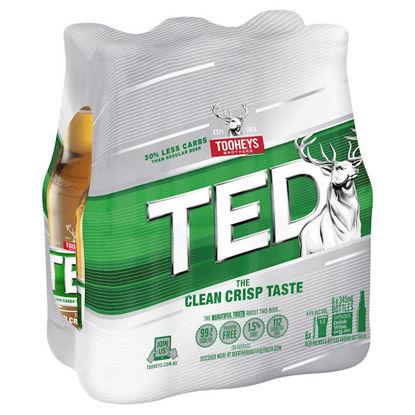 Picture of Tooheys Extra Dry 345ml Stubbie Shrinkwrap 6 Pack