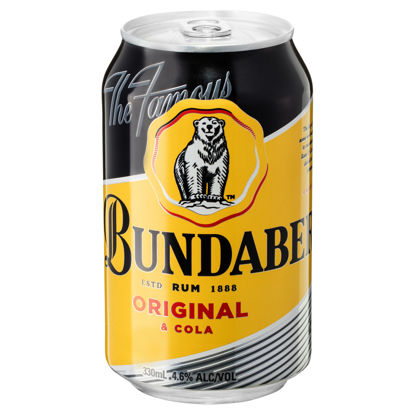 Picture of Bundaberg Rum UP & Cola 375ml Can-Single