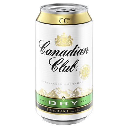 Picture of Canadian Club Whisky & Dry 375 ml Can Single