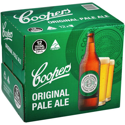 Picture of Coopers Pale Ale Long Neck 12Pk x 750ml Bottle