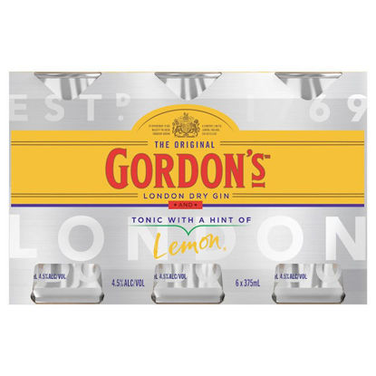 Picture of Gordons Gin & Tonic 6 x 375ml Can-6Pk