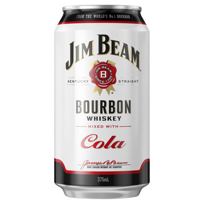 Picture of Jim Beam White Bourbon & Cola 375ml Can-Single
