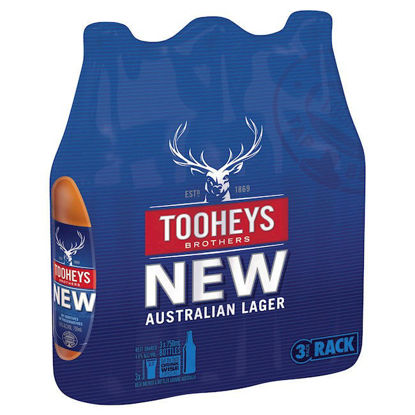 Picture of Tooheys New Long Neck 3Pk 750ml Bottle