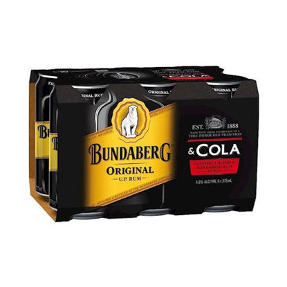 Picture of Bundaberg Up & Cola 375Ml Can  6 Pk