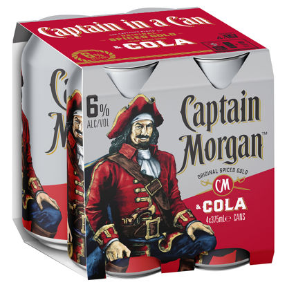 Picture of C/Morgan Cola 6% 375Ml Can  4 Pk