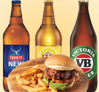 Picture of QA Beef Burger and Beer Deal